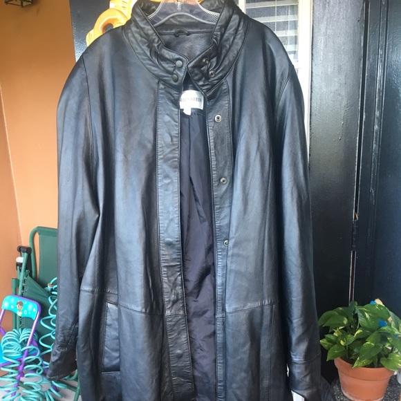 Jackets & Blazers - Full length black leather coat
